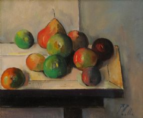 Peter Collis RHA (1929-2012), Still Life Fruit on a Table at Morgan O'Driscoll Art Auctions