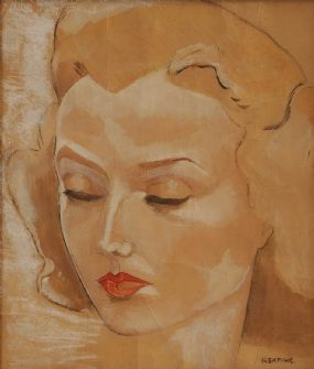 Sean Keating PRHA HRA  HRSA (1889-1978), Female Study at Morgan O'Driscoll Art Auctions