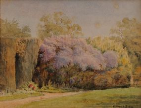Mildred Anne Butler RWS RUA (1858-1941), Lilac-Time In Cassington Vicarage Garden at Morgan O'Driscoll Art Auctions