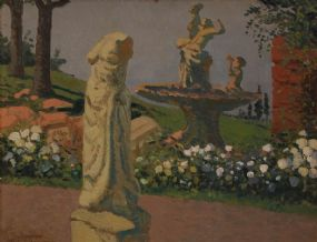 Patrick Leonard HRHA (1918-2005), Statuary in Park at Morgan O'Driscoll Art Auctions