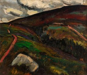 Peter Collis RHA (1929-2012), Wicklow Mountains at Morgan O'Driscoll Art Auctions