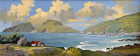 John Skelton Snr (1923-2009), Island Vista, St. Finans Bay & Puffin Island, Kerry at Morgan O'Driscoll Art Auctions