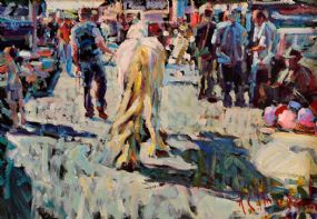Arthur K. Maderson (b.1942), Study Tallow Horse Fair at Morgan O'Driscoll Art Auctions