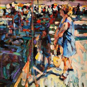 Arthur K. Maderson (b.1942), Partially In The Shade (Gange Market Day, France) at Morgan O'Driscoll Art Auctions