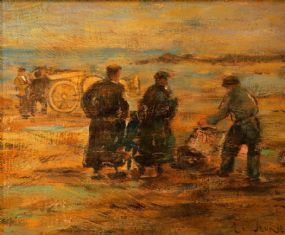 James LeJeune RHA (1910-1983), The Harvesters at Morgan O'Driscoll Art Auctions