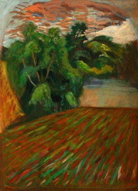 Brian Bourke HRHA (b.1936), Landscape,Co. Kilkenny at Morgan O'Driscoll Art Auctions
