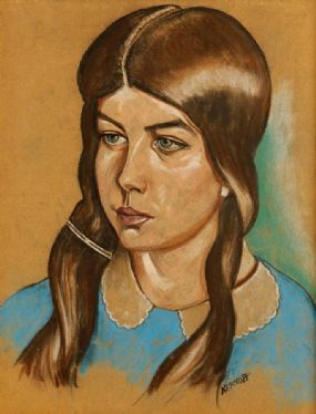 Harry Kernoff RHA (1900-1974), Portrait of a Young Lady at Morgan O'Driscoll Art Auctions