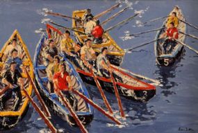 Ivan Sutton (b.1944), After Curragh Race, Kilronan, Aranmore Co. Galway at Morgan O'Driscoll Art Auctions