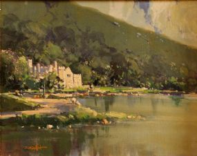 George Gillespie RUA (1924-1996), Kylemore Abbey at Morgan O'Driscoll Art Auctions