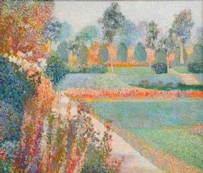 Victor Richardson (20th/21st Century), The Rose Garden, Castleward at Morgan O'Driscoll Art Auctions