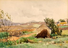 Frank McKelvey RHA RUA (1895-1974), Near Crolly, Co. Donegal at Morgan O'Driscoll Art Auctions