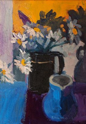 Brian Ballard RUA (b.1943), Daisies in a Vase at Morgan O'Driscoll Art Auctions