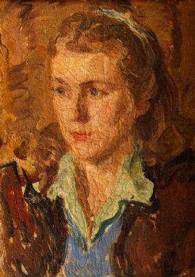 Edith Morgan (19th/20th Century), Portrait of a Girl at Morgan O'Driscoll Art Auctions