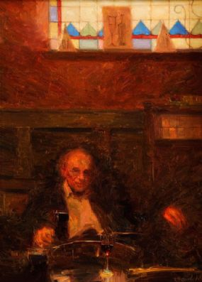 Kenneth McKendry (20th/21st Century), Interior John Hewit's Bar, Belfast at Morgan O'Driscoll Art Auctions