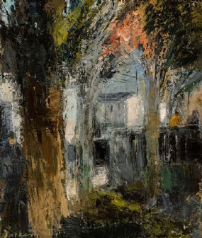 Donald Teskey (b.1956), Bridge Near Capel Street at Morgan O'Driscoll Art Auctions