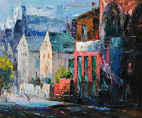Stuart Williams (20th/21st Century), Dublin Street Scene at Morgan O'Driscoll Art Auctions