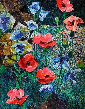 Kenneth Webb RWA FRSA RUA (b.1927), Poppies in a Meadow at Morgan O'Driscoll Art Auctions