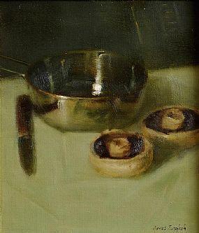 James English ARHA (b.1946), Breakfast Mushrooms at Morgan O'Driscoll Art Auctions