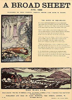 Jack Butler Yeats RHA (1871-1957), A Broad Sheet, June 1902The Gates of Dreamland & The Mail Car at Morgan O'Driscoll Art Auctions