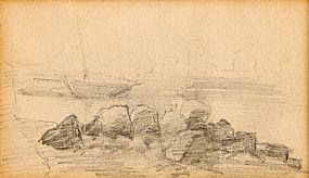 Sarah Henrietta Purser HRHA (1848-1943), Howth Harbour at Morgan O'Driscoll Art Auctions