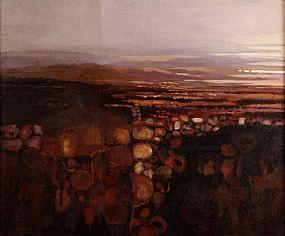 Arthur Armstrong RHA (1924-1996), Figure in a Landscape, Connemara at Morgan O'Driscoll Art Auctions