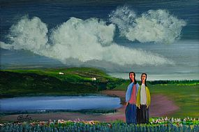 Jimmy Bingham (1925-2009), Two Sisters at Morgan O'Driscoll Art Auctions