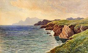 James Alfred Aitken ARHA RWS (1846-1897), Achill Head, Co. Mayo at Morgan O'Driscoll Art Auctions