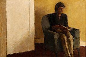 Colin Watson (b.1966), Girl Reading at Morgan O'Driscoll Art Auctions