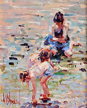 Arthur K. Maderson (b.1942), Beach Study, Clonea at Morgan O'Driscoll Art Auctions