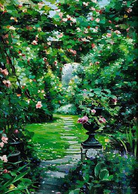 Mark O'Neill (b.1963), The Garden Path at Morgan O'Driscoll Art Auctions