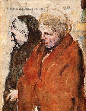 William Conor RHA RUA ROI (1881-1968), Mother and Daughter 1906 at Morgan O'Driscoll Art Auctions