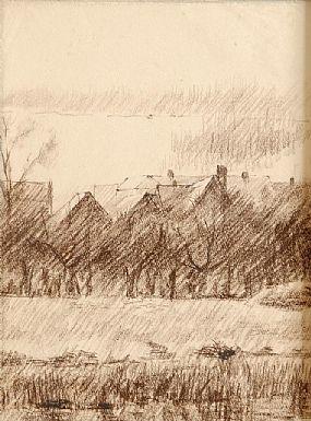 Colin Middleton RUA RHA (1910-1983), Rooftops at Morgan O'Driscoll Art Auctions