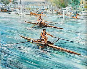 Gordon King (b.1939) British, Boat Race at Morgan O'Driscoll Art Auctions