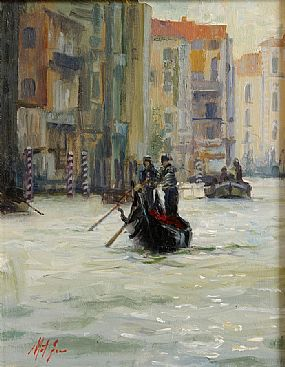 Mat Grogan (20th/21st Century), Venice Gondola at Morgan O'Driscoll Art Auctions