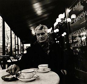 John Minihan (b.1946), Samuel Beckett in Cafe Francais, Boulevard St. Jacques, Paris, December 1985 at Morgan O'Driscoll Art Auctions