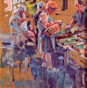Arthur K. Maderson (b.1942), Market Study, Le Vigan at Morgan O'Driscoll Art Auctions