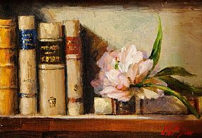 Mat Grogan (20th/21st Century), Peony Rose with Books at Morgan O'Driscoll Art Auctions