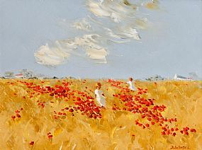 Thelma Mansfield (20th/21st Century), Playing in the Poppy Field at Morgan O'Driscoll Art Auctions
