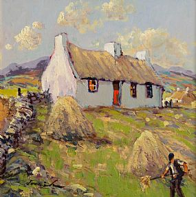 William Cunningham (b.1946), Gathering The Hay at Morgan O'Driscoll Art Auctions