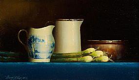 David Ffrench Le Roy (b.1971), Dutch Blue and Leeks at Morgan O'Driscoll Art Auctions