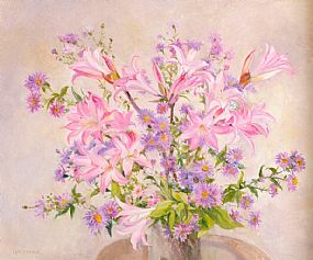Geraldine O'Brien (20th/21st Century), Lillies at Morgan O'Driscoll Art Auctions