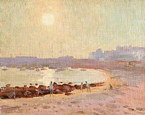 Robert Taylor Carson HRUA (1919-2008), Harbour & Beach, Los Cristianos at Morgan O'Driscoll Art Auctions
