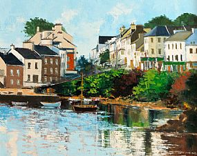 Denis Orme Shaw (20th/21st Century), Roundstone Harbour at Morgan O'Driscoll Art Auctions