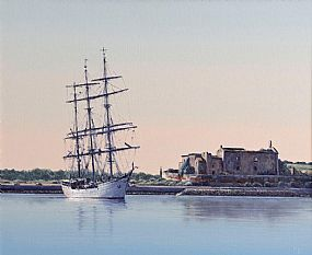 Virgilio Raposo (20th/21st Century) Portuguese, Schooner at Anchor at Morgan O'Driscoll Art Auctions