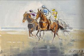 Cornelius Campbell (20th/21st Century), Riding Out on The Beach at Morgan O'Driscoll Art Auctions