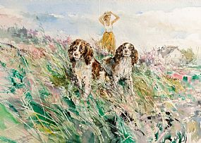 Gordon King (b.1939) British, Lady With Spaniels at Morgan O'Driscoll Art Auctions