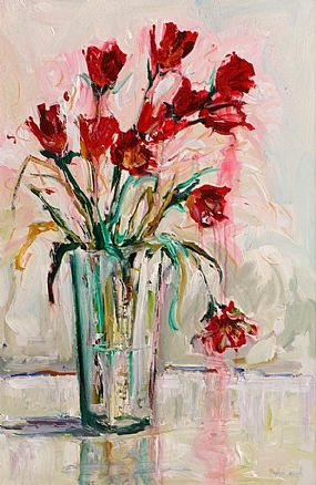 Angelina Raspel (20th/21st Century), Still lIfe, Flowers in a Vase at Morgan O'Driscoll Art Auctions