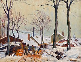 attributed to William Samuel Horton (1865-1936), The Woodcutters at Morgan O'Driscoll Art Auctions