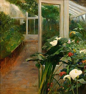 J. Johnston Inglis RHA (fl.1885-1903), The Conservatory at Morgan O'Driscoll Art Auctions