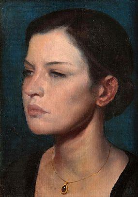 Ken Hamilton (b.1956), Girl With a Necklace at Morgan O'Driscoll Art Auctions